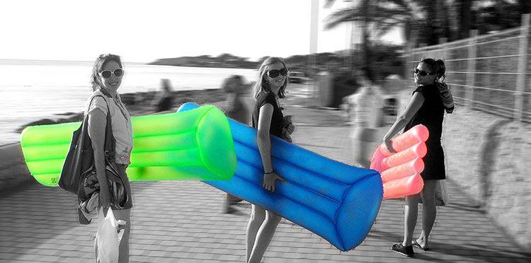 Girls going at the beach after class