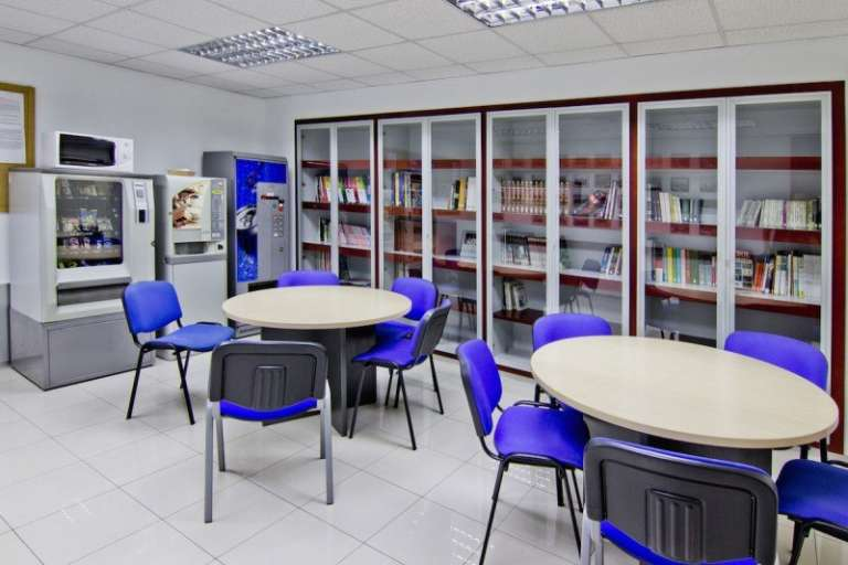 The library of our school