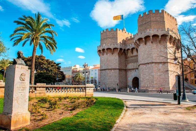 the tower Serrano in valencia