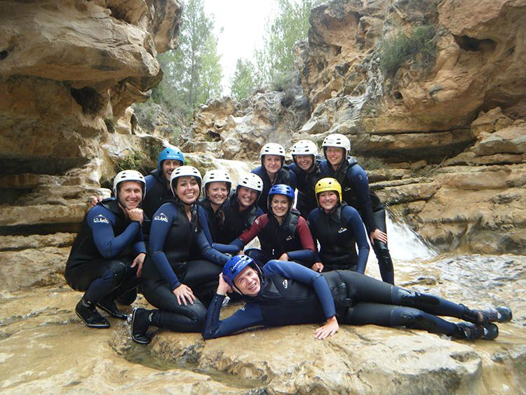 Our students going on our activity of Rafting