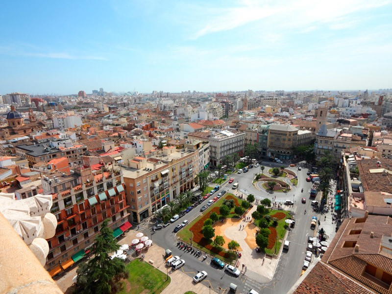 view of valencia from the top of a building